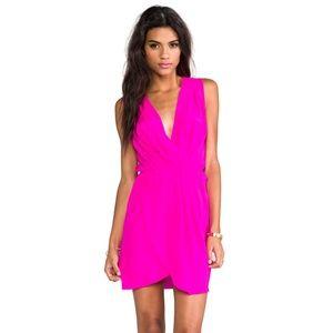 AMANDA UPRICHARD Silk Crystal Wrap Dress Medium